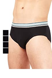 4 Pack Stretch Cotton Assorted Briefs [T14-6836S-S]
