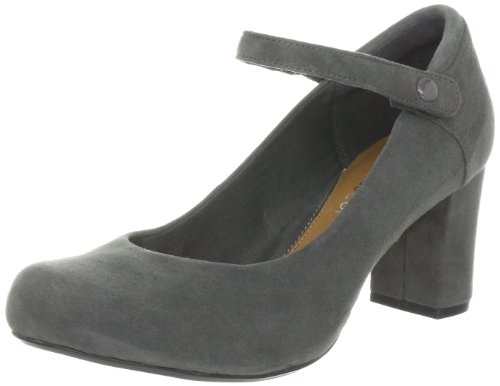 Clarks Deva Dolly Pumps Womens Gray Grau (Light Grey) Size: 7 (41 EU)