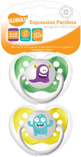 Ulubulu Monster Collection Pacifier Double Pack