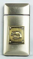 High Ovalliy Designer Butane Jet Flame Cigarette Lighter In Glossy Finish Silver-FCS-LIT-347