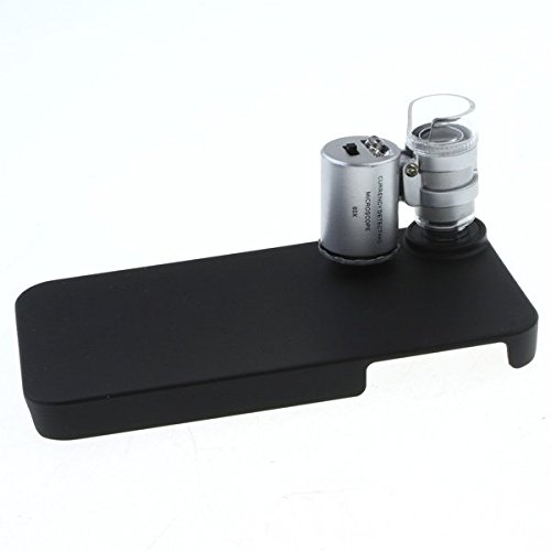 Mini 60X Zoom Magnify Iphone Case Microscope Micro Lens For Iphone 4, 4S Uv+Led Light