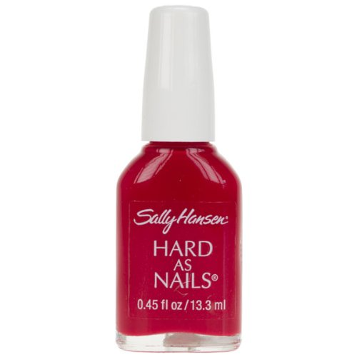 Sally Hansen HARD AS NAILS NAIL POLISH IN CARDINAL special hard concrete nails wall paintings nail