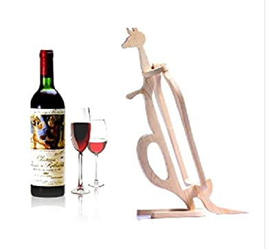 Kangaroo Wooden Bottle Wine Rack Natural, Brown