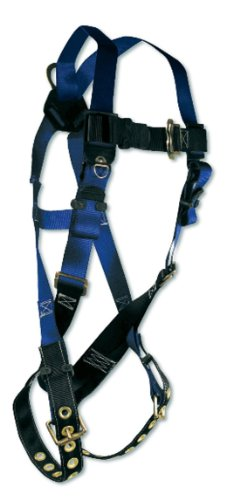 Fall Tech 7016X/2X Contractor Full Body Harness with 1 D-Ring and Tongue Buckle Leg Straps, Universal Fit (Fall Harness Xl compare prices)