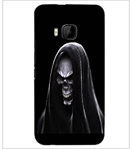 PrintDhaba Skeleton D-2017 Back Case Cover for HTC ONE M9 (Multi-Coloured)