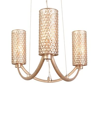 Varaluz Casablanca 3-Light Chandelier, Zen Gold