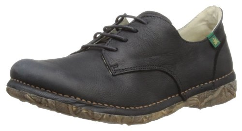 El Naturalista Womens Angkor Black Lace-Up Flats N984 5 UK, 38 EU