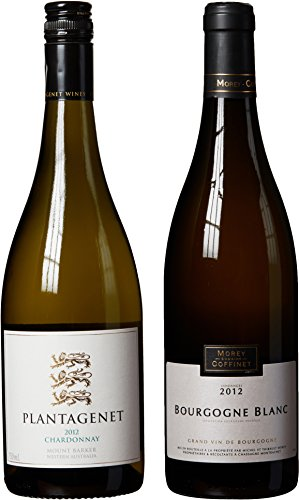 "White Burgundy & Australia Chardonnay Themed Wine Pairing - ""Hand Selected By America'S 1St Master Sommelier"" - A Comparative Way To Explore Food & Wine! Mixed Pack, 2 X 750 Ml"