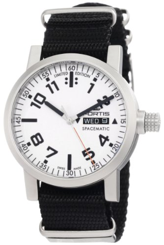 Fortis Men's 623.22.42 N.01 Spacematic Automatic Day and Date Nylon Strap Watch