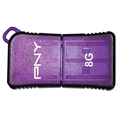 PNY 8 GB Micro Sleek USB Drive, Purple (P-FDU8GBSLK/PRP-EF)