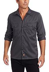 Dickies Men's Slim Fit Long Sleeve Work Shirt