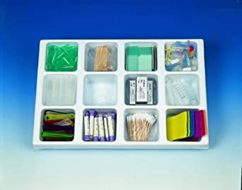 Heathrow Scientific HD2538C Polystyrene Drawer Organizer with 12 Compartment Tray, 460mm Length x 307mm Width x 63mm Height