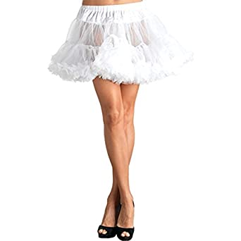 Leg Avenue Petticoat, White, One Size