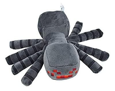 "JB Minecraft 7"" Spider Plush Mini Toy Grey, Free by JB"
