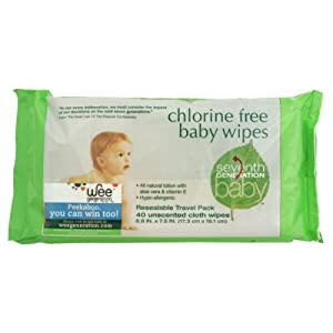 Free & Clear Baby Wipes, Resealable Travel Pack, Unscented, 36 Wipes, 6.8 in x 7 in