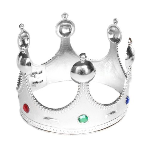Royal Silver King Crown ~ Halloween King Costume Accessories