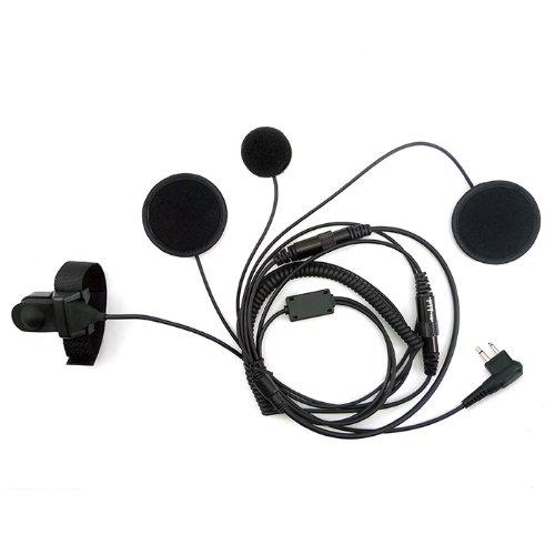 Zeadio-Full-Face-Moto-Motorcycle-Bike-Helmet-Earpiece-Headset-Mic-Microphone-for-2-Pin-Motorola-Radio-Xv2100-Xv2600-Xv4100-Xu1100-Xu2100-Xu2600-Etc