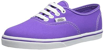 Vans Unisex-Child Authentic Lo Pro Trainers, Electric Purple, 2 UK Child
