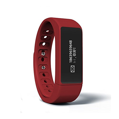 Hideer i5 Plus Oled Smart Bracelet Bluetooth 4.0 Smartwatch Pedometer Tracking Calorie Health Wristband Sleep Monitor (Red)