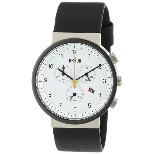 Braun-Mens-Quartz-Watch-with-White-Dial-Analogue-Display-and-Black-Leather-Stra