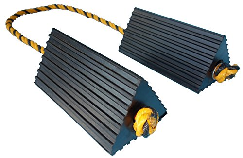 YM W4159 Rubber Aircraft Wheel Chock with Rope, 10