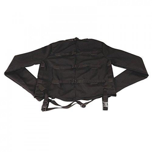 Zwangsjacke schwarz Größe S/M