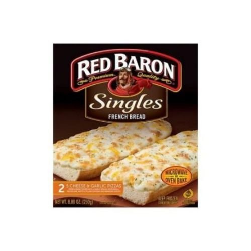 Red Baron French Bread Singles 5 Cheese and Garlic Pizza, 8.8 Ounce -- 12 per case. (Frozen Cheese Pizza compare prices)