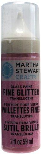 Martha Stewart Fine Glitter Translucent Glass Paint, 2-Ounce, Bubble Gum front-136369