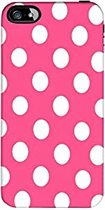 Snoogg Pink Polka Dot Designer Protective Back Case Cover Forapple Iphone 4 / 4S
