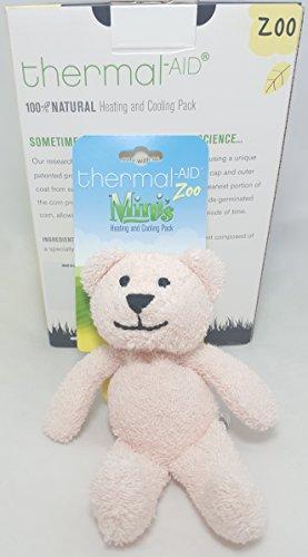 Thermal-Aid Mini Pink Bear Stuffed Natural