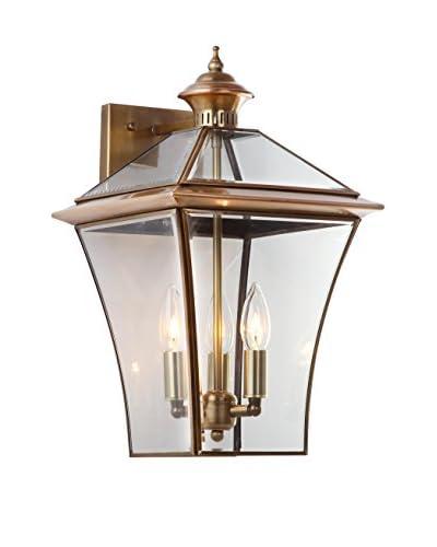 Safavieh Virginia Triple Light Sconce, Brass