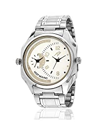 Yepme Men's Dual Movement Watch - Cream/Silver_YPMWATCH2822