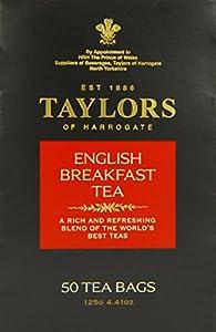 Taylors of Harrogate English Breakfast Tea, 50-Count Tea Bags (Pack of 6)