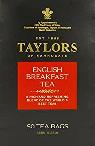 Taylors of Harrogate English Breakfast Tea, 50 Count Tea Bags, 4.41oz