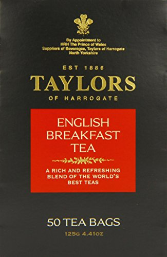 Taylors of Harrogate English Breakfast Tea, 50-Count Tea Bags (Pack of 6)
