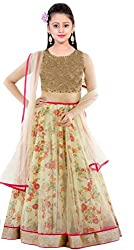 Clickedia Kids wear Girls Net Lehenga Choli/ Chaniya Choli for Navratri and Festive���� - traditional wear ( 8-12 yrs)