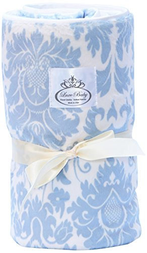 LUXE BABY Marraquesh Stroller Blanket, Blue