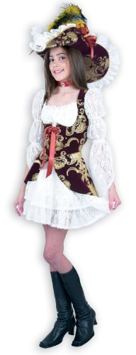 Charades Girls Lacy Pirate Lady Kids Costume