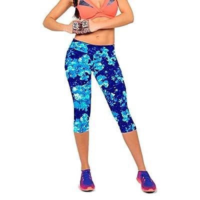 Fashion Story Women Fitness Print Stretch YOGA Sport Capri Pants Leggings