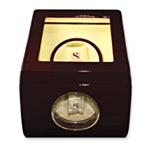 Steinhausen Single Cherrywood Finish Watch Winder w/Display