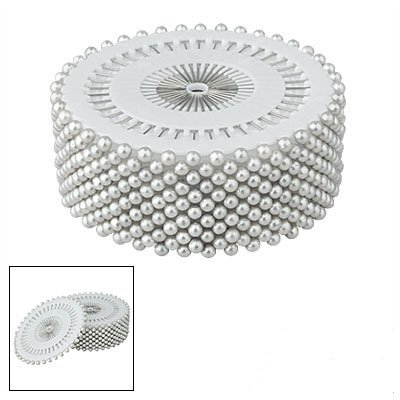 "Find Discount Amico Silver Tone 1.5"" Long 3mm Plastic Pearl Head Pins 480 Pcs"