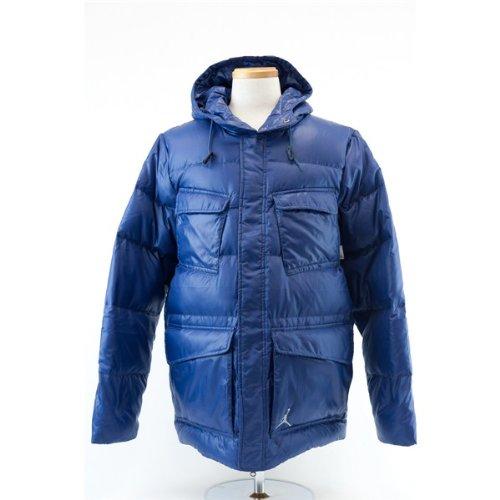 Nike Air Jordan Military Herren Daunen Thermore 550 Padded Winter Jacket, Blau