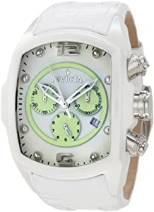 Invicta Men's 10284 Lupah Chronograph White Dial White Leather Watch at Sears.com