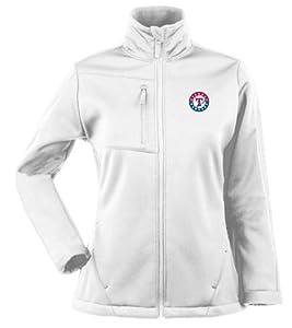 Texas Rangers Ladies Traverse Jacket (White) by Antigua