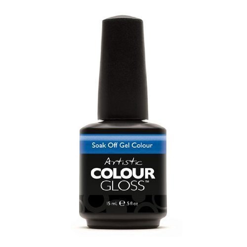 Artistic Nail Design Soak Off Colour Gloss Polish Vivid Blue Shimmer 03055 Wham
