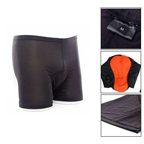 Xcellent Global 3D Padded Men's Bicycle Cycling Underwear Shorts Underpants - FS001M, Mens-Black, Medium (Men Cycling Underwear compare prices)