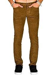 KR3W KSlim 5 Pocket Corduroy Pants (Coffee) Men's KREW Jeans