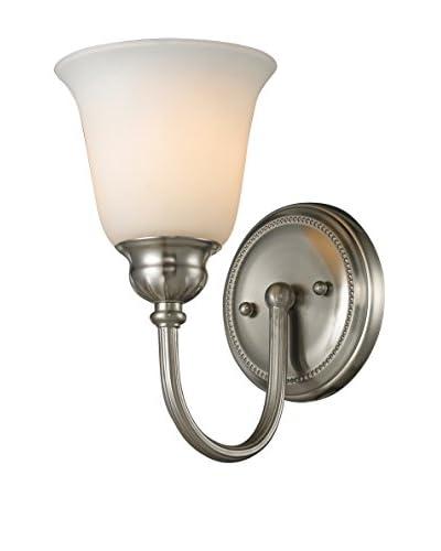 Artistic Lighting Ventura 1-Light LED Sconce, Brushed Nickel