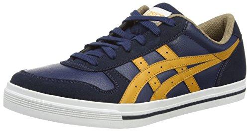ASICS - Aaron, Sneakers Basse da unisex - adulto, blu (navy/tan 5071), 41.5