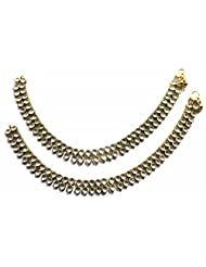 Shingar Ksvk Jewels Antique Gold Plated Payal / Pajeb / Anklet For Women (9732-payal)